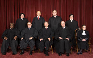 The majority of justices in the United States Supreme Court are Roman Catholics.